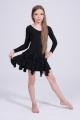 Sukienka jazzowa fioletowo czarna