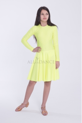 Sukienka PIERWSZY KROK  zółty neon