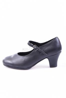 Buty do flamenco SEVILLA czarne skórzne