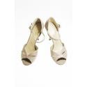 Buty tangowe 1928 róż lakierowany, obcas 9 cm