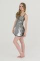 Tunika - sukienka Astrid srebrne cekiny