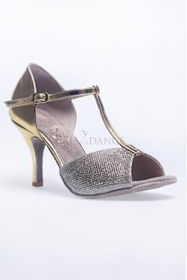Buty DL1 złota skóra eko brokat