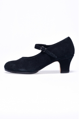 Buty do flamenco Sevilla czarny zamsz