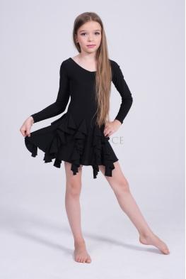 Sukienka ADELE czarna z długimi rękawami