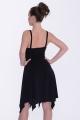 Sukienka Adele czarna na ramiączkach