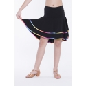 Spódnica FELICITA czarna z tęczową lamówką