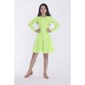 Sukienka PIERWSZY KROK neon zielony