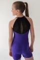 Kostium z szortami Anastasia fioletowo czarny