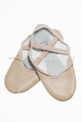 Baletki skórzane FREE cieliste