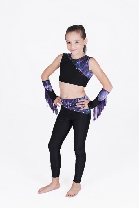 Strój disco dance 4 czarno-fioletowy
