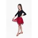 Sukienka LIWIA czerwono- czarna