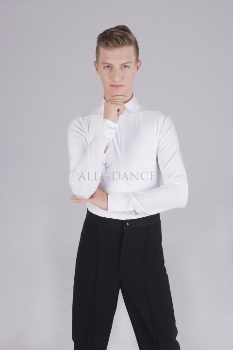 Koszula body biała z kołnierzem