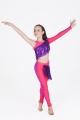 Strój disco dance koralowo fioletowy