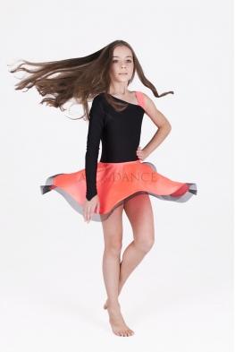 Sukienka latino czarno koralowa