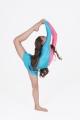 Strój gimnastyczny łyżwiarski niebiesko łososiowy