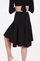 Spódnica FELICIA czarna z czerwoną lamówką