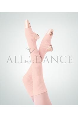 Getry - ocieplacze na nogi z wycięciem na piętę Theatrical Pink