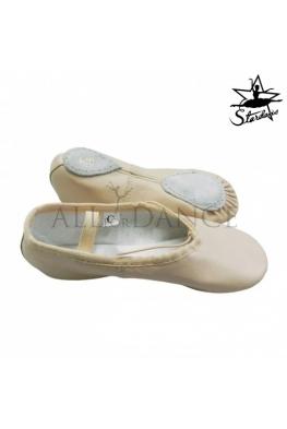 Baletki skórzane class split