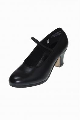 Buty do flamenco BILBAO czarne skórzane