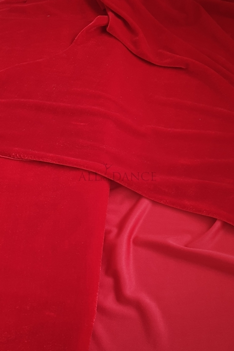 Welur czerwony