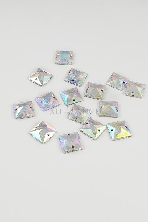 Kamienie przyszywane 634 Crystal AB kwadrat