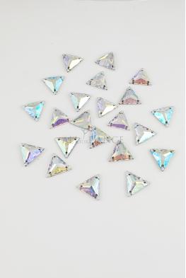 Kamienie przyszywane 603 Crystal AB trójkąt
