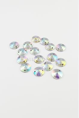 Kamienie przyszywane 635 Crystal AB okrągłe
