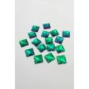 Kamienie przyszywane 634 Emerald kwadrat