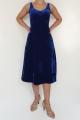 Sukienka SIMONE niebieski welur