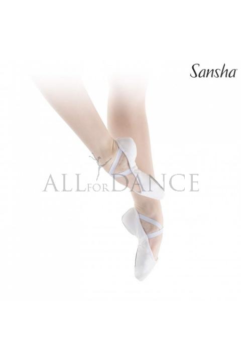 Baletki SILHOUETTE Sansha białe