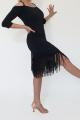 Sukienka BELLA czarna z frędzlami