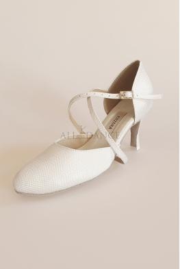 Buty Kozdra 36 białe brokatowe