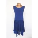 Sukienka CARMEN niebieska na ramiączkach