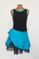 Sukienka Lidia czarno niebieska