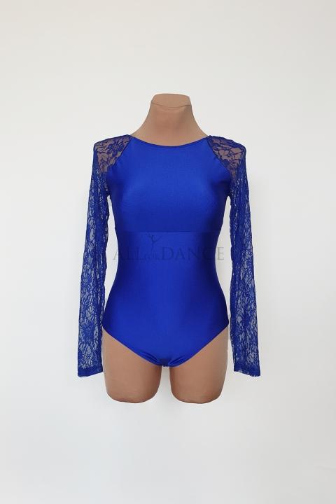 Body PAULINE niebieskie z koronką