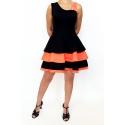 Sukienka latino 2 czarno pomarańczowa