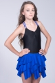 Sukienka latino 1 czarno chabrowa