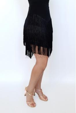Spódnica CLARA czarna z frędzlami