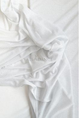 Siatka biała ze srebrnym brokatem