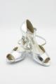 Buty na szpilce Kozdra 14 srebrna skóra