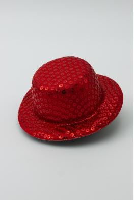 Mini kapelusz cekinowy - fascynator różne kolory