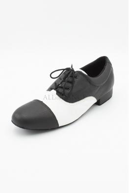 Buty męskie biało czarne