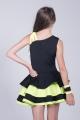 Sukienka latino 2 czarno limonkowa