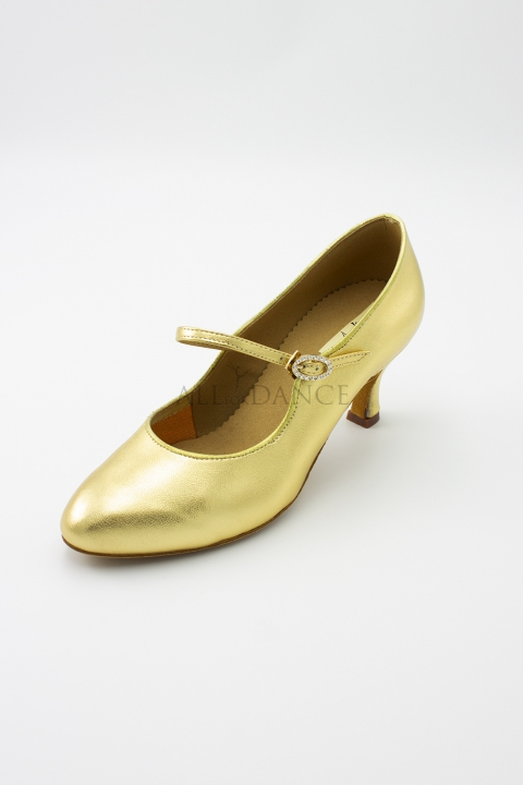 "Buty ASN06 złota skóra 2,5"""