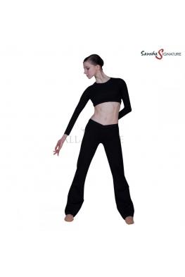 Spodnie bawełniane JADE czarne