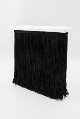 Frędzle taneczne czarne metalizowane 25cm
