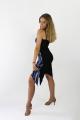 Sukienka GLORIA czarna wzór
