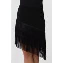 Spódnica NINA czarna z frędzlami
