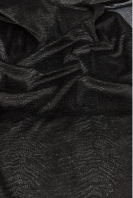 Welur czarny szary tygrys