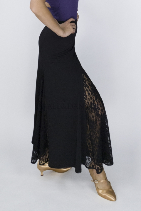 Spódnica FLOWERS czarna
